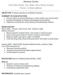 Medical Assistant Duties Resume