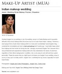 indian wedding best makeup artist review for angela tam make up artist hair stylist team orange county los angeles indian south asian make up