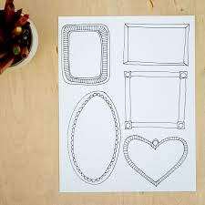 Easy and fun art prompt for kids: Color in frames