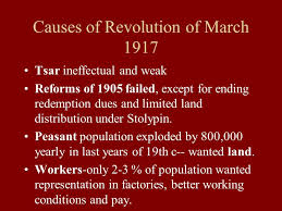 the russian revolutions ppt  causes of revolution of 1917 tsar ineffectual and weak reforms of 1905 failed except