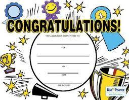 Congratulation Certificate Free Congratulations Certificates For Kids Kid Pointz