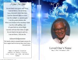 Free Download Funeral Program Template Adorable Cover Template Free Obituary Template Download Cover Template
