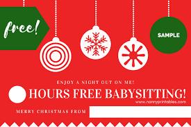 babysitting certificates free instant pdf download babysitting coupon nanny