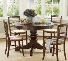 pottery barn round pedestal dining table