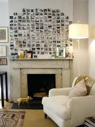 fireplace decor ideas fireplace decorating with light color combination and photographs fireplace decor images