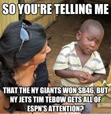 so you're telling me that the NY Giants won SB46, but NY Jets Tim ... via Relatably.com