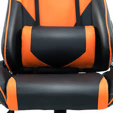 leather recliner gaming chair lovely costway executive racing style high back reclining chair gaming of 47