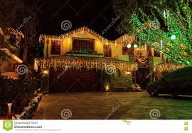 Christmas Light Installation Newport Beach Ca Holiday Lights On A Home Editorial Stock Photo Image Of