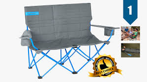 kelty is best known for their high end sleeping bags they ve got a few top tier chairs on the market as well the loveseat is similar in design to