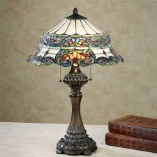 grace stained glass table lamp multi jewel touch to zoom