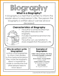 Outline For Writing A Biography About The Author Template For Students News Story Article