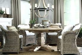 wicker dining table chairs round