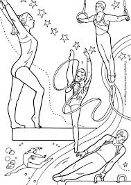 Gymnast Coloring Pages Free Library Gymnastics Page Barbie Hostmix
