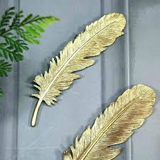 gold leaf feather wall art antique gold wall decor feather wall decor pair of antique gold gold leaf feather wall art