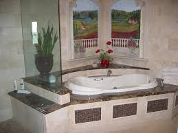 granite bath tub surround