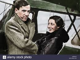 Amy Johnson, British aviator, about to set out for Cape Town, 1932.  Artists: Unknown, James Mollison Stock Photo - Alamy