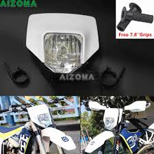 Enduro Lights White Halo Headlight Fairing Enduro Cross 35w Head Lamp Mask