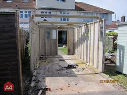 05 04 2017 we removed the asbestos cement roofs from two garages today they are owned by two neighbours and as you can see from the photos the garages
