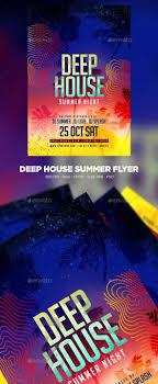 Deep House Summer Flyer Graphicriver Flyer Flyertemplate