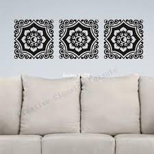 fl damask wall decal motif trio vinyl graphic damask wall art sticker home decoration wall stickers wall stickers free fl dama