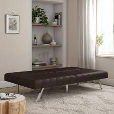 mainstays morgan tufted convertible modern euro futon multiple finishes com
