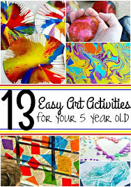 you ll have a blast with these 13 easy art activities for your 5 year old from rock painting to spin art to melted crayons your 5 year old will love these