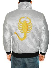 Scorpion Ryan Gosling Drive White Jacket