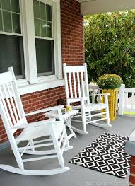 outdoor white furniture. White Front Porch Furniture Rocking Chair Outdoor Attractive Chairs For With Regard To