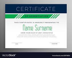 Corporate Certificate Template Corporate Appreciation Certificate Design Template
