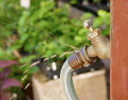 it looks like this leaking garden hose needs a new o ring photo
