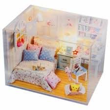 miniature dollhouse furniture for sale. new kits diy wood dollhouse miniature with ledfurniturecover doll house room sale furniture for n