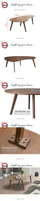 details of i home o coffee table natural wooden top solid wood leg table walnut