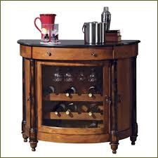 Small Corner Bar Chestnut Wooden Small Liquor Cabinet Features Square Glass Top And