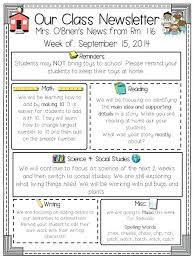 Monthly Newsletter Template For Teachers Awesome Monthly Newsletter Template For Teachers Parent Hatch Co
