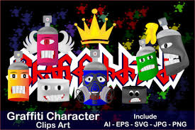 Artistic features for web designs are all the new rage. Clip Art Of Graffiti Characters Graphic By Mahesa Design Creative Fabrica