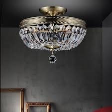 brizzo lighting s 22 caro traditional crystal round semi regarding antique flush mount ceiling light