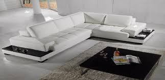 Top grade latest l shaped sofa designs leather material padded with feather