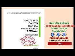 1990 dodge dakota manual transmission removal youtube 1990 Dodge Dakota Ignition Wiring Diagram 1990 dodge dakota manual transmission removal 1990 dodge dakota wiring diagram