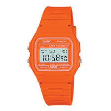 casio watches edifice g shock solar digital h samuel casio men s orange resin strap digital watch product number 2400677