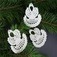 Großhandel Häkeln Sie Weihnachtsengel Set 10 Stück Weiß Häkeln Engel Christbaumschmuck Weihnachtsschmuck Von Cn1001575306 704 Auf Dedhgatecom