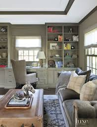 home office formal living room transitional home. Transitional Green Office With Charcoal Velvet Sofa Home Formal Living Room