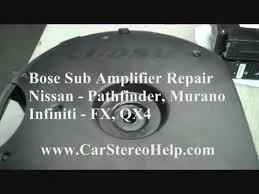 how to infiniti fx bose sub amp repair 051715 car speaker Bose Spare Tire Subwoofer Wiring Diagram how to infiniti fx bose sub amp repair 051715 car speaker subwoofer youtube Bose AM 5 Subwoofer