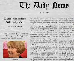 Write Your Own Newspaper Article Template Funny Newspaper Generator With Your Own Picture