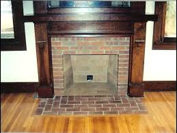 brick fireplace hearth and custom wood mantel surround removal