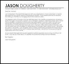 Cover Letter For Sport Management Job Vancitysounds Com
