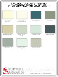 Turquoise Paint Color Chart Color Charts Sportsfield Specialties