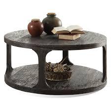 riverside bellagio round cocktail table weathered worn black hayneedle