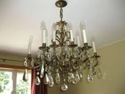 antique brass chandelier with crystals vintage crystal photos chandeliers for vintage brass chandelier