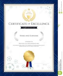 Certificate Of Excellence Template Free Portrait Certificate Of Excellence Template In Sport Theme For F 16
