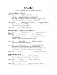 Example College Dance Resume Augustais